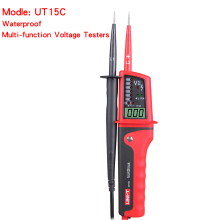 Hight quality UNI-T UT15C Waterproof Digital Voltage Meter 24V~690V AC DC Voltage Testers LCD Display Auto Range Phase Rotation