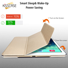 KISSCASE Protective Cover For iPad 2 3 4 Case Smooth Touch PU Leather Flip Cover For Apple iPad 2 3 4 Folded Kickstand Cover