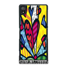 Romero Britto Cat Dog Love Art  Cover for Sony Xperia Z Z1 Z2 Z3 Z4 Z5 Compact C C3 C4 C5 Ultra M2 M4 T2 T3 X XA Performance