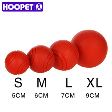 HOOPET Dog Toy Rubber Ball Bite-resistant Dogs Puppy Teddy Pitbull Pet Supplies(China)