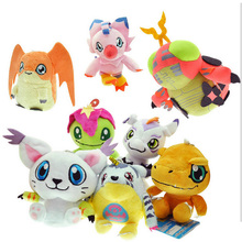 8 Kinds Option Animal Dolls, 12 CM Cute Digital Monster Plush Toys,Children Plush Toys Send Kids As Gift With Free Shipping(China)