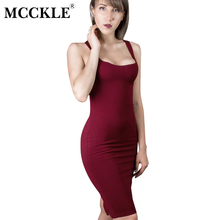 MCCKLE Woman fashion Brand Design Sleeveless American Apparel Summer Style dresses Tango Vestidos 7 Colour Simple Casual Simple(China)