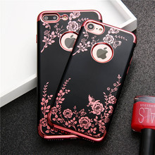 Buy Case Apple iPhone 6 6s 7 7 Plus Luxury Flower Butterfly Plating TPU Phone silicone soft Back Case Cover iPhone 6 6s for $1.23 in AliExpress store