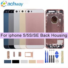 For Apple iPhone 5 5G/5S/SE Back Battery Cover Rear Door Housing Case Middle Chassis Replacement For iPhone 5S/5SE Back Housing(China)
