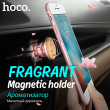 ORIGINAL HOCO CA8 Aroma Metal Magnetic Car Phone Holder Air Outlet Rotating Vehicle Stand for iPhone Samsung universal magnet