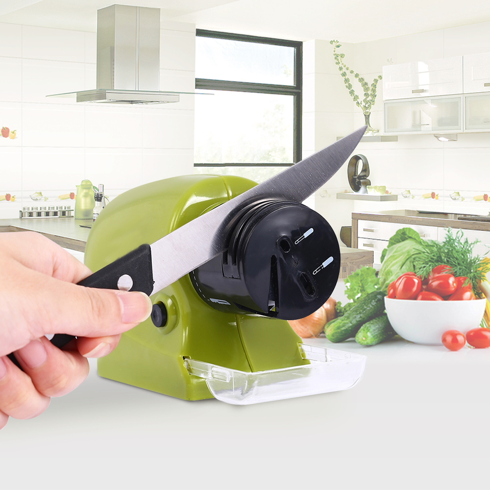 2017 Professional Electric Knife Sharpener Rotating Sharpening StoneS Kitchen Knives Scissor Motorized Blades Screw Drivers(China (Mainland))