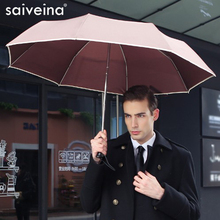 SAIVEINA Fully-automatic men business folding umbrella three fold Adults Children Umbrellas Sunny Rain for Men Women umbrella(China)