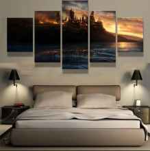5 Panels canvas prints HOGWARTS canvas painting poster home decor wall art framed artwork