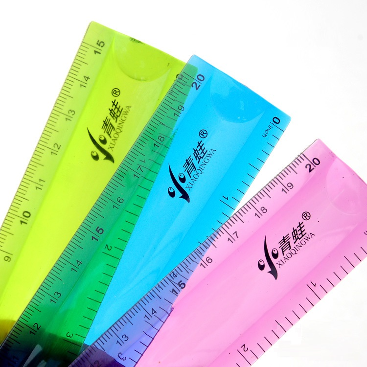 Soft Straight Ruler 15cm20cm30cm(6\8\12inch) Multicolour DUAL SCALE Student Flexible Ruler Tape Measure Office School Stationery