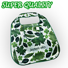 Good quality! Germany Green leaf Shopping Bag,Eco-friendly folded Portable handle shoulder Fashion Bag for Travel Grocery(China)