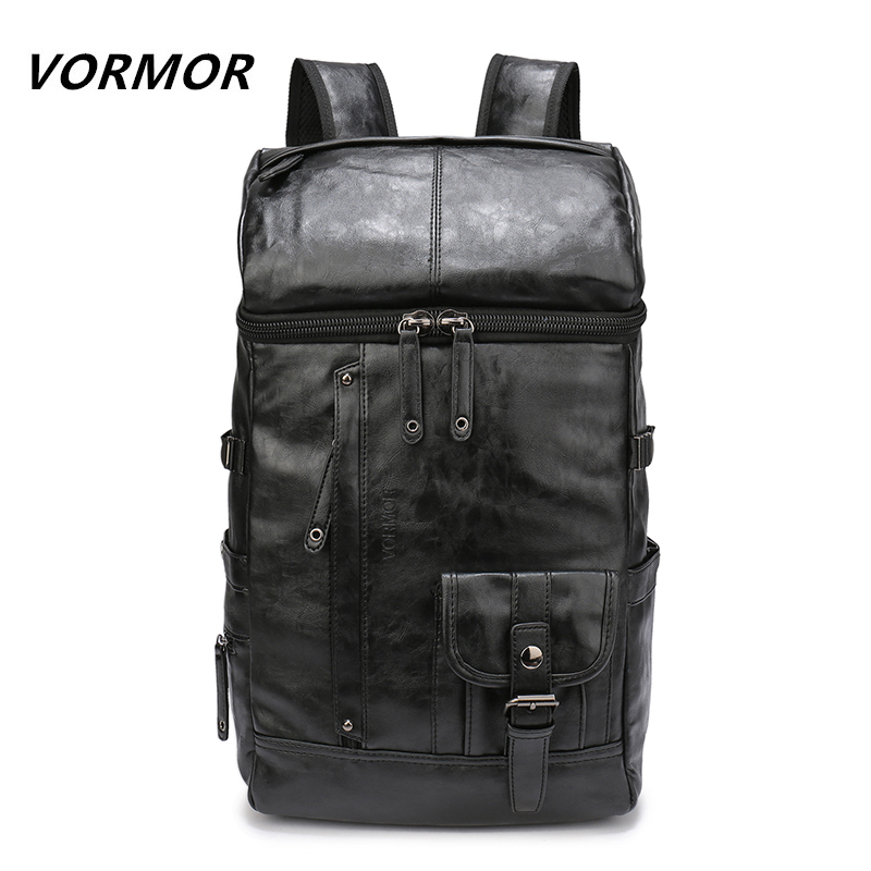 VORMOR High Quality Waterproof PU Backpack Mens Backpacks for Laptop Men Notebook Bag Backpack 14 to17 Inch Travel bag<br>