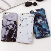 Retro Stone Marble Case for iPhone 6 6s 7 Plus Smooth PC Hard Cover For iPhone 7 7 Plus 5 5s SE Accessories Back Covers Fundas