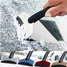 Accessories Car Snow Removal Scraper Ice Shovel Board Brush Window Matel Painted Windshield Clean Tool