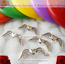Free ship 150pcs 20mm one hole alloy angel wing bead, angel wing accessory,pendant accessory,connecting bead,pendant part