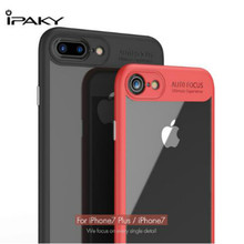 IPAKY Luxury Brand for iPhone 7 Case Original Clear Hybrid Cell Phone Case TPU Frame + Acrylic Back Plate for iPhone 7 Plus Case