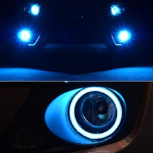 80mm 85mm 90mm 95mm 100mm COB LED Angel Eyes Headlight Halo Ring Warning Lamps with Cover Car Styling LED Light Lamp