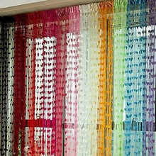 Cute Heart Line Tassel String Door Curtain Window Room Divider Curtain Valance(China)