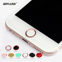 BINFUL Colorful Touch ID Home Button Sticker For iPhone 5 5S 6 7 8 plus 6s 6s plus Boto para pegatina Fingerprint Identification(China)