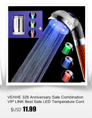 Vehhe Combination Vip Link Best Sale Led Temperature Control Faucet Aerator Shower Head Colorful Top Spray Bathroom Fixtures Home Improvement