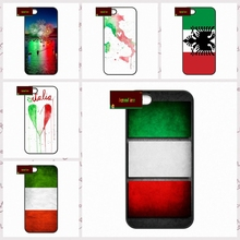 Italy Flag IT Eagle Map Plastic Phone Cases Cover For iPhone 4 4S 5 5S 5C SE 6 6S 7 Plus 4.7 5.5  AM1306