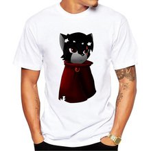 Newest 2017 Men fashion funny t-shirt kawaii bat wolf printed tee shirts Hipster O-neck cool tops plus size clothing(China)