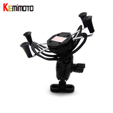 KEMiMOTO For BMW R1200GS X-Grip GPS Mobile Phone Navigation Bracket For BMW R1200GS R1200R R1200ADV 2016 after market(China)