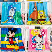 children blanket Baby cartoon blanket mircofiber super soft comfortable feeling for  kids bedclothes lovable cartoon pattern