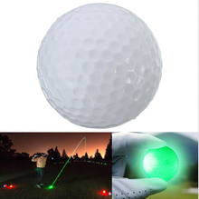 2016 New Small Light Up Flashing Glowing LED Electronic Golf Balls Day And Night Golfing Practicing Wholesale(China)
