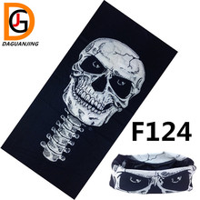 DaGuanJing New Black Skull Bandana Washout Seamless Scarf Sunscreen Muffler Veil Scarves Unisex Bandanas Ciclismo Magic Headband