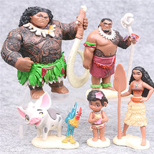 Disney Toys 5pcs/Set 6-10cm Moana Princess Maui Chief Tui Tala Heihei Tamatoa Dolls Pvc Action Figure Toys Brinquedos(China)