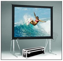 Hot selling 80 inch 16:9 format Fast Quick Fold Projector screen for many size front and rear projection screen(China)