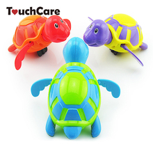 Cute Cartoon Animal Baby Bath Toys Swimming Turtle Wound-up Chain Clockwork Kids Classic Toy Children Gift Plastic Toys(China)
