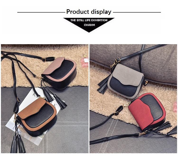 Stiilsed kahevärvilised crossbody kotid