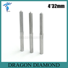 Hot Selling 10pcs 4*32MM 2 Straight Flutes Carbide Milling Cutter, Cutting Tools, CNC Router Bits on Carving Engraving Machine(China)