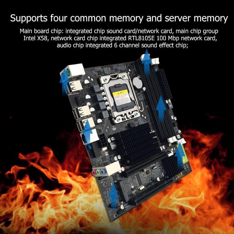 Интернет магазин товары для всей семьи HTB1dxTpaznuK1RkSmFPq6AuzFXau X58 рабочего Материнская плата LGA 1366Pin DDR3 компьютер материнская плата для L/E5520 X5650 RECC для Intel Core i7 M-SATA 1333 МГц