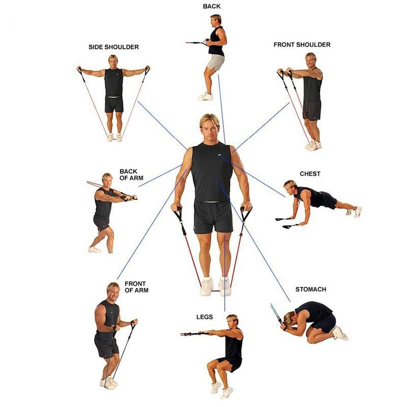 120cm Elastic Resistance Bands Yoga  (1)