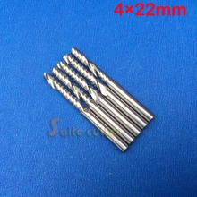 SHK 4mm CEL 22mm Carbide CNC Router Bits one Flute End Milling Engraving machine Tools