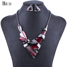 MS1504481 Fashion 5 Colors Jewelry Sets High Quality Woman's Necklace Sets For Women Wedding Crystal Unique Design Party Gifts(China)