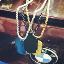 Hip-hop Trend Titanium Steel Military License Dog Tag Necklace Jewelry Pendant Blank Identity Card Soldier Card Men And Women