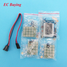 CD4017 + NE555 Flash Light Explosion-flashing LED Suite Self DIY Electronic Kit DIY KIT for Self-Assembly(China)