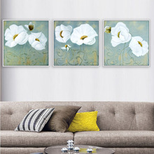 Modern Canvas Painting Decorative of Living room Restaurant and Bedroom Sofa Decoration Picture of White Flowers pattern