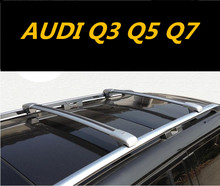 Car Aluminum Roof Rack Rail baggage luggage Cross Bar For AUDI Q3 Q5 Q7 (With Lock) (Black Silver)