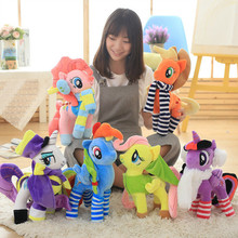 candice guo plush toy stuffed doll cartoon animal rainbow lucky scarf fly horse magical pony baby girl present birthday gift 1pc