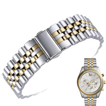AOTU Watch Band 22mm Durable NEW Replacement Stainless Steel Watchbands Strap Bracelet  for MK Watch MK8344 Man Silver Gold+Tool