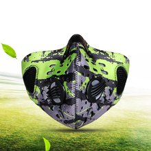 BATFOX  Winter Anti Pollution Face Mask activated carbon filters Neck Gaiter Cycling Windproof Mask Balaclava MTB Bike Mask