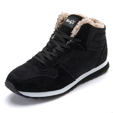 Buy Men's Casual Shoes Men Shoes Men's Winter Shoes Ankle Lace Snow shoe keep Warm Plush Black for $13.87 in AliExpress store