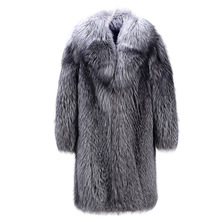 New 2017 Faux Mink Coat Man Full Mink Long Windbreaker Mink Fur Coat Striped Coat Winter Men Fake Fur Coat Plus Size S-5XL(China)