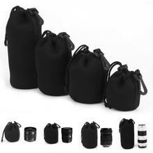 Camera Neoprene DSLR Lens Soft Pouch Protector Case Bag For Canon Nikon Sony Hot Sale wholesale(China)