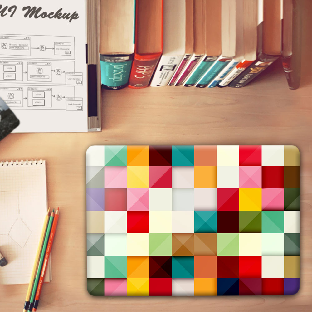 Fashion Patchwork lattice pattern Crystal Hard Case Cover for Macbook Pro 13.3 15.4 12 Retina Mac Air 11 13 Case Accessories<br><br>Aliexpress