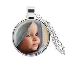 Personalized Photo Pendants Custom Necklace Photo of Your Baby Child Mom Dad Grandparent Loved One Gift for Family Member Gift(China)